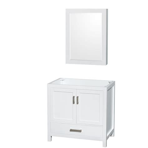 36 white vanity cabinet wyndham collection wcs141436swhcxsxxmed sheffield 36 inch