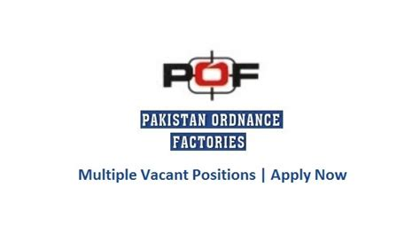 Pof Pakistan Ordnance Factories Jobs 5 Aug 2016