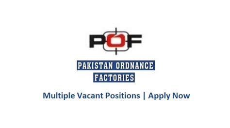 Pof Pakistan Ordnance Factories Jobs 5 Aug 2016