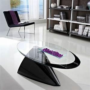 Table Ovale Design : table basse design ovale en verre pamela 4 pieds tables chaises et tabourets ~ Teatrodelosmanantiales.com Idées de Décoration