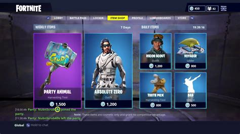 party animal weekly item shop  fortnite battle royale