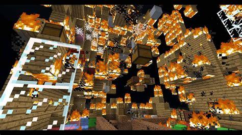minecraft burning   house youtube