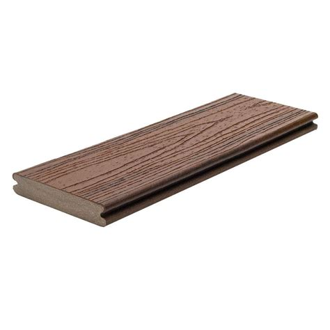 Home Depot Trex Decking Boards by Trex Transcend 1 In X 5 1 2 In X 16 Ft Lava Rock