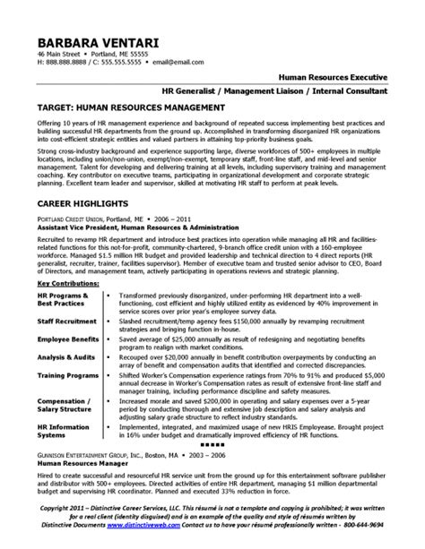 Cv Of Hr Generalist by Sle Resume For An Hr Manager Page 1 Resume