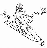 Coloring Pages Downhill Sheets Olympics Winter Olympic Skiing Skier Colouring Sports Medal Games Printable Printactivities Gold Hockey Flag Activities Win sketch template