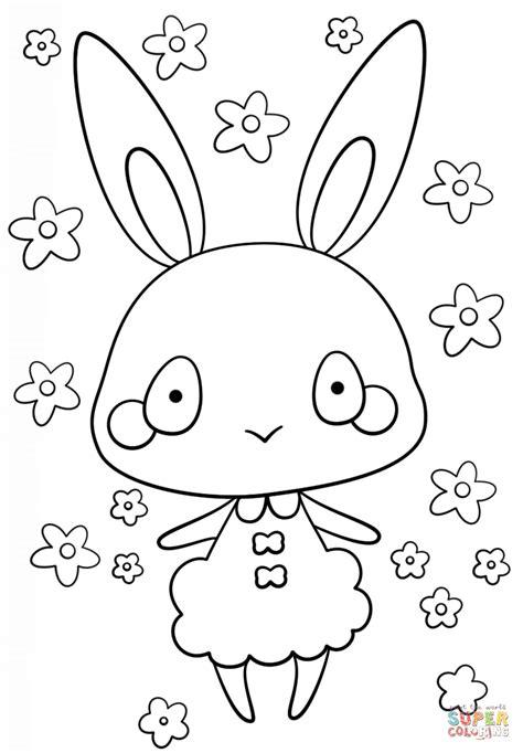 kawaii bunny girl coloring page  printable coloring pages