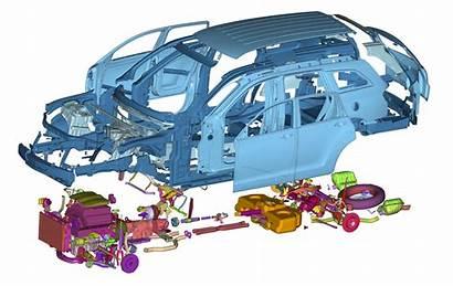 Ansa Vehicle Automotive Cae Usa Safety Exploded