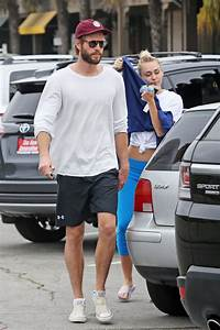 MILEY CYRUS and Liam Hemsworth Out for Ice Cream in Malibu ...