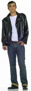 50u0026#39;s GREASER Grease Faux Leather Biker Fonzie Jacket Costume Standard / XL Menu0026#39;s