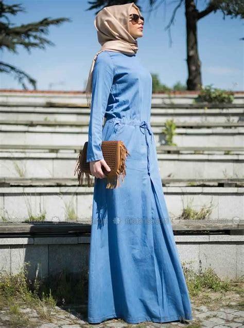 hijab mode comment porter la robe en jean avec le hijab