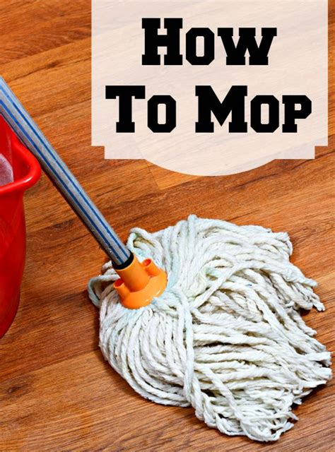 how to use a mop how to mop home ec 101