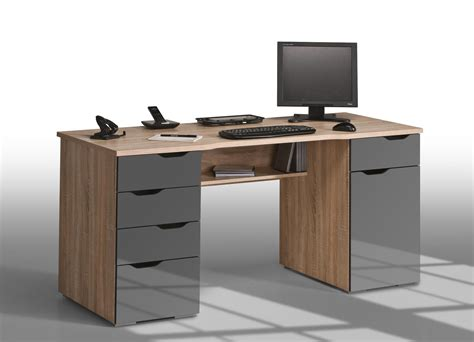 bureau informatique design ch 234 ne sonoma gris laqu 233 claudelle bureau bureau