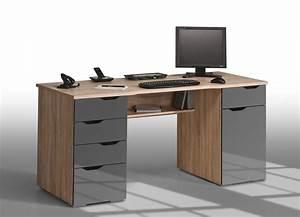 Meuble Pour Bureau : meuble bureau pour ordinateur fixe grand bureau blanc laqu lepolyglotte ~ Teatrodelosmanantiales.com Idées de Décoration