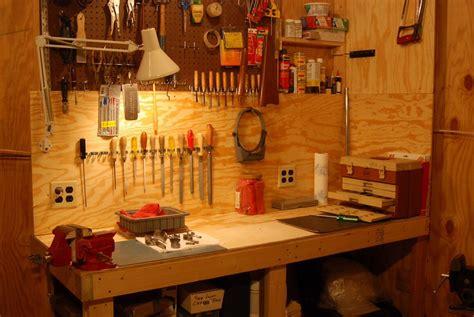 gun station  man cave reloading cleaning gun