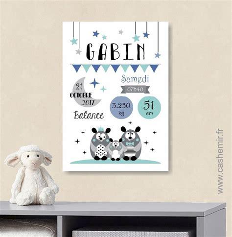 tableau chambre bebe garcon affiche naissance bébé cadeau de naissance garçon