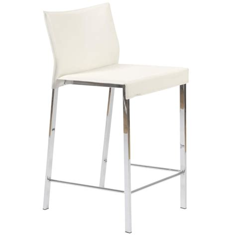 leather counter chair white chrome bar stools