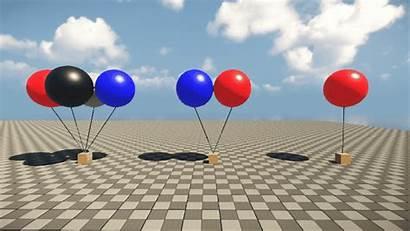 Balloon Air Setting Floating Birthday Happy Animated