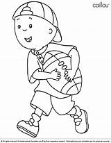 Caillou Coloring Pages Print Football Reef Coral Cartoon Printable Colouring Coloringlibrary Children Sheets Fun Easter Game Friends Activities Colors Adult sketch template