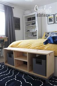 DIY Bench with Storage Compartments- IKEA Nornas look