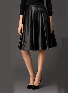 Lucy Paris A Line Leather Skirt