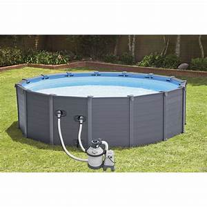 Piscine Intex Hors Sol : piscine hors sol autoportante tubulaire graphite intex ~ Dailycaller-alerts.com Idées de Décoration
