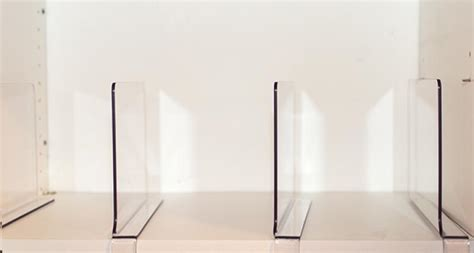 clear shelf dividers acrylic shelf divider set of 2 the organizing shoppe