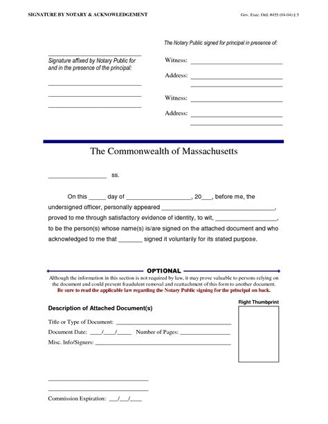 notary signature template 28 images notary format