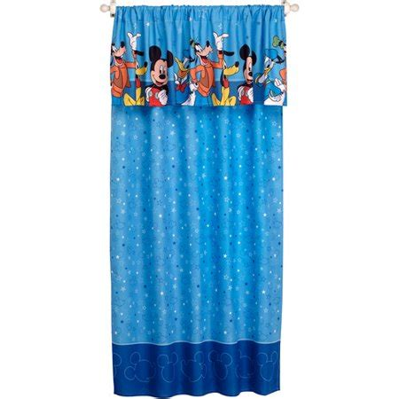 mickey mouse curtains your choice disney window valance walmart