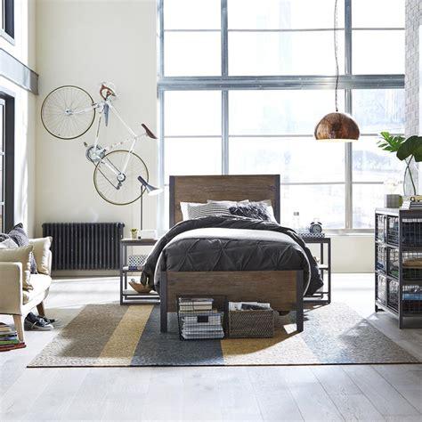 home styles barnside metro  piece driftwood queen bedroom