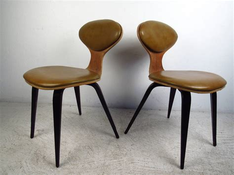 pair of mid century modern bentwood chairs in the style of