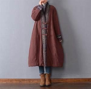Vêtements En Lin Et Coton : manteau d 39 hiver l che femmes en lin coton buykud 1 vetements pinterest manteau coton ~ Carolinahurricanesstore.com Idées de Décoration