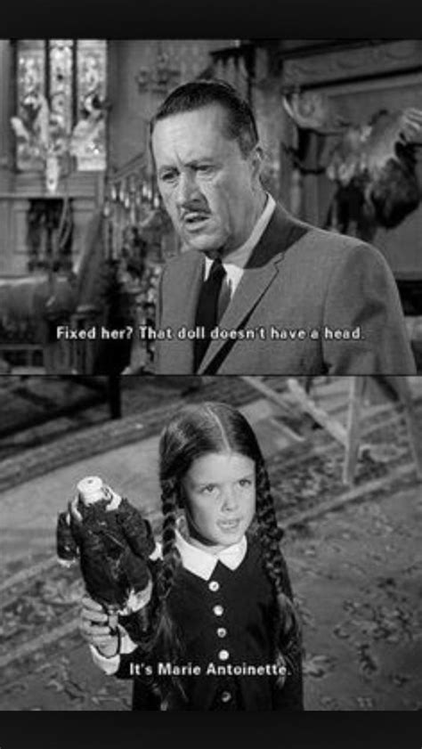 """Wednesday Addams' headless doll is named """"Marie Antoinette"""