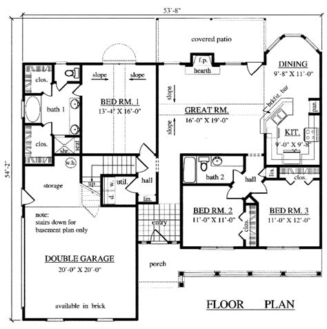 1500 sq ft house plan house plans home builder prescott sons construction