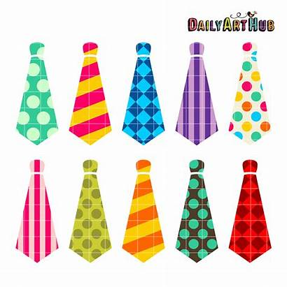 Objects Neckties Clip Clipart Sets Mens Items