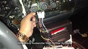 2002 Chevy Avalanche Radio Instalacion Onstar Bypass