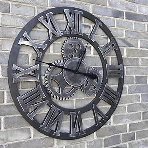 Grande Horloge Murale Design : grand horloge murale 3d m canique home decor modern design ~ Nature-et-papiers.com Idées de Décoration