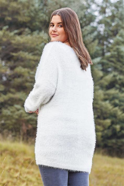 Pull De Noël Blanc 'let It Snow', Grande Taille 44 à 64