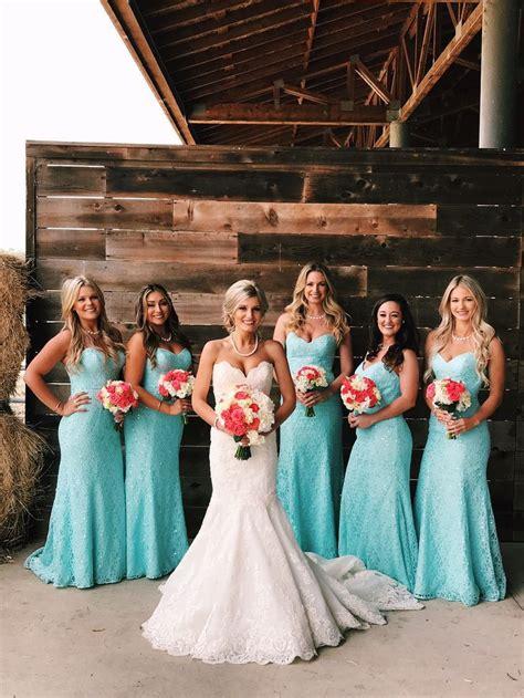 Tiffany Blue And Coral Wedding Pretty Things Weddings