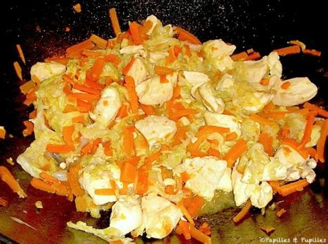 cuisiner un chou chinois wok de poulet au chou chinois