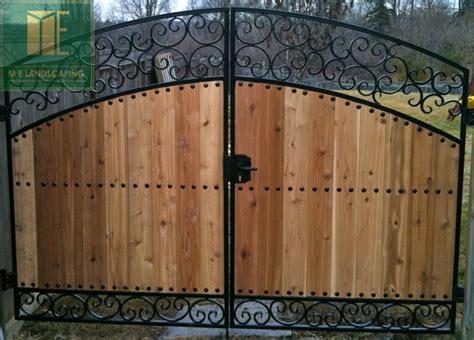wood  iron gate  toronto toronto landscaping design