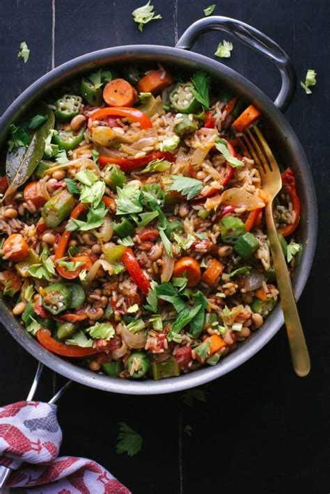 vegan meals vegetarian pot easy vegetable jambalaya recipes meatless dishes monday simple amazing meal healthy nourish taste romantic jokes vegetarians