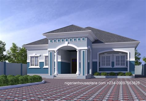 4 bedroom bungalow (Ref: 4029) NigerianHousePlans