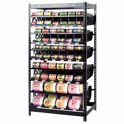 Rotation Storage Shelf Shelves Prepper System Reliance