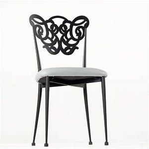 Pied En Fer Forgé : chaise en fer forg milos 4 pieds tables chaises et tabourets ~ Teatrodelosmanantiales.com Idées de Décoration