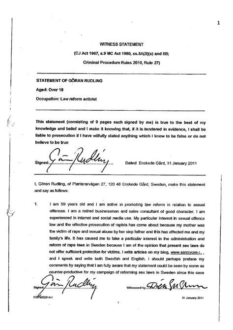 goran rudling witness statement