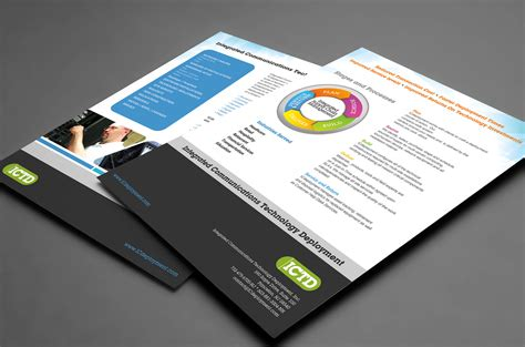technology company flyer design brochure builders