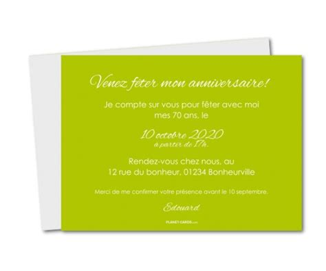 Invitation Anniversaire Pêle Mêle 70 Ans │ Planet-cards.com