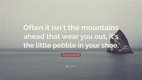 muhammad ali quote   isnt  mountains