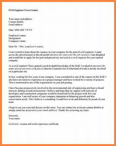 6 Application Letter Of Civil Engineer Bussines Process Engineering Cover Letter Resume Downloads 5 Cover Letter Examples For Engineering Internships Civil Engineer Cover Letter Example Example Cover Letter