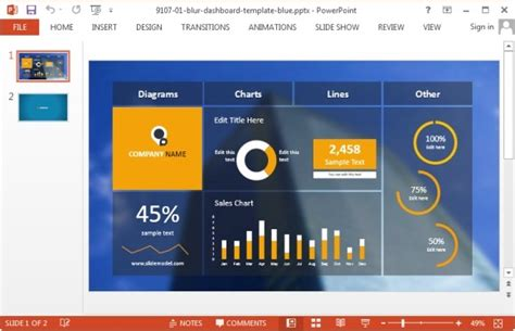 powerpoint dashboard template best project management powerpoint templates